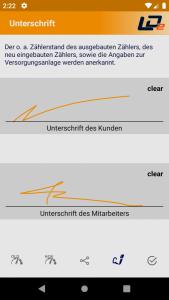 (Optional) Unterschriften