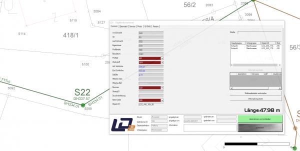 Abwasserinformationen in der LD2 Vermessung hinzufügen
